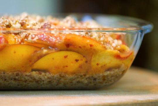 Spiced Peach Cobbler