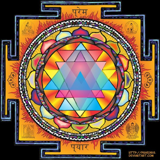 Sri Yantra Mandala by Phaedris digital art