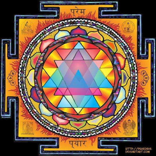 Sri Yantra Mandala by Phaedris digital art