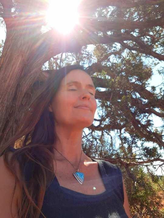 Shana Meditating with Reiki in Sedona